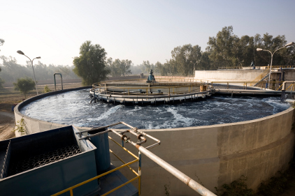 wastewater treatment basin