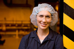 woman in hair net