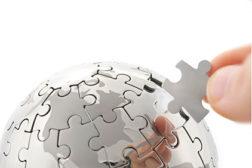 puzzle pieces, globe puzzle