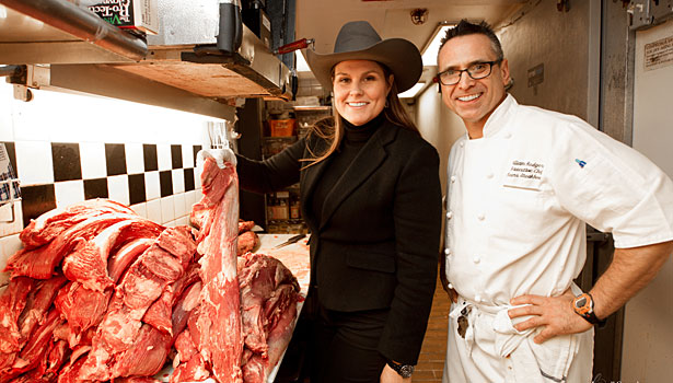 Strassburger and chef of Keens Steakhouse