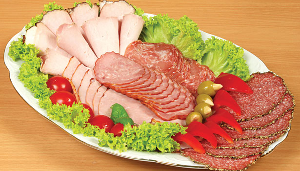 Sliced meat tray