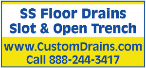 SS Floor Drains Slot & Open Trench