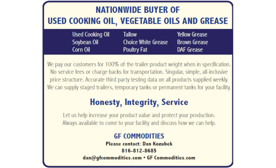 Nationwide Buyer of Used Cooking Oil, Vegetable Oils and Grease