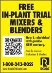 FREE IN-PLANT TRIAL MIXERS & BLENDERS