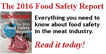 The National Provisioner 2016 report on food safety in the meat industry