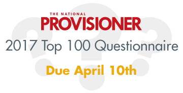The National Provisioner's Top 100 Processors Report Questionnaire