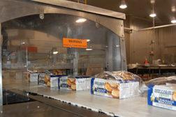 breakfast sandwiches, conveyor belt
