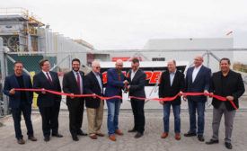 Stampede Meat Ribbon Cutting