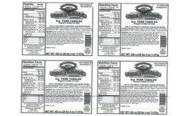 Beef and pork tamale recall due to misbranding and undeclared allergen