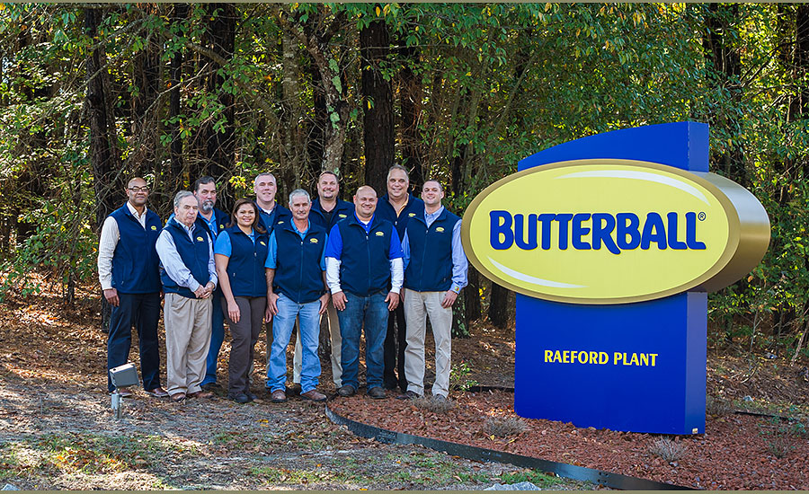 The management team at Butterball's new Raeford, N.C., further-processing plant
