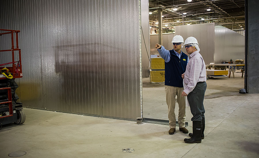 Frank Koekkoek Jr. and Andy Hanacek in the ready-to-eat (RTE) side of Butterball's new further-processing plant