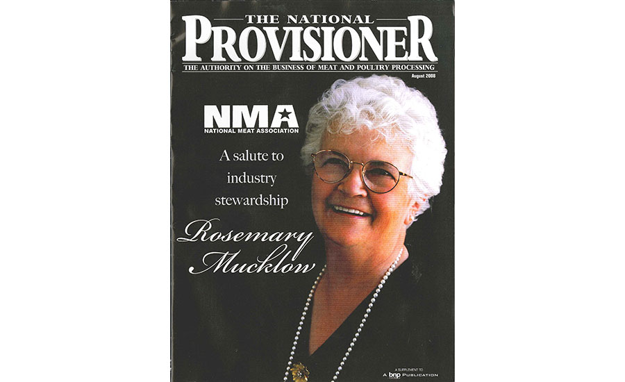 Rosemary Mucklow on The National Provisioner August 2008 issue cover