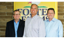Dave Hansen, Ron Foster, and Dan Huber of Foster Farms