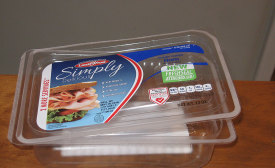 Land O'Frost's Simply Delicious lunch meat uses the reclosable FreshSeal Attached Lid package
