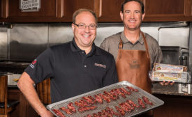 Howard Bender, CEO, Schmaltz Retail Products, and Brett Erickson, director, Value-Added Products, Certified Angus Beef LLC