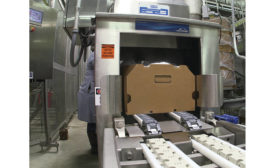 Linde automated box-chilling system at Koch Foods plant