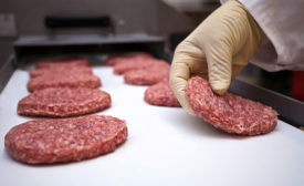 Round meat patties developed with precise forming technology