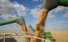 Combines Unloading Crop Yields