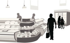 Graphic of Shoppers at Deli Market