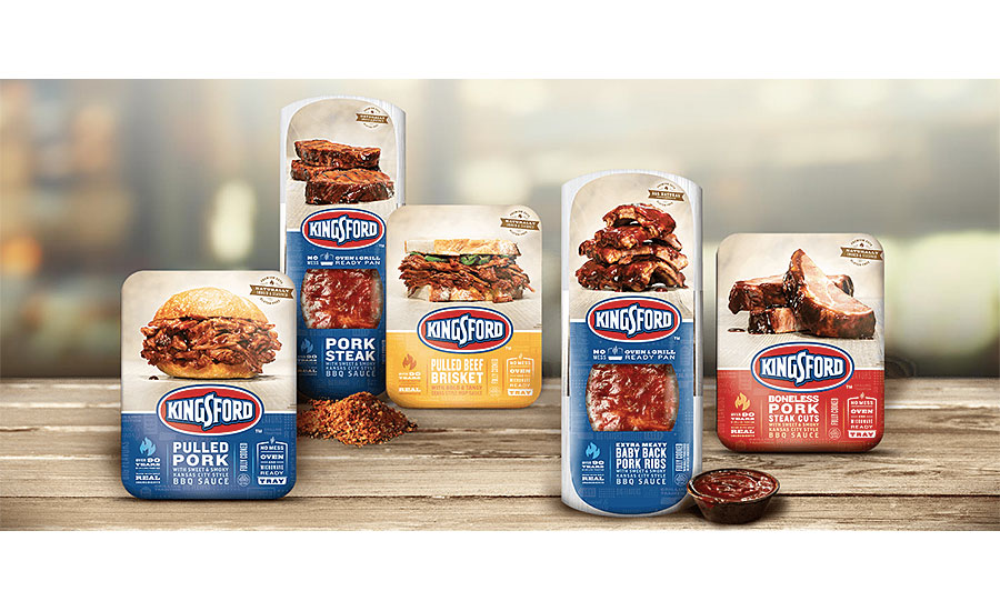 Kingsford branded pre-cooked ribs and barbecue entrées