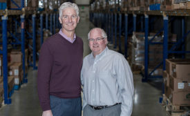 Mike Hageman, CEO, and Chuck Weum, President, of J&B Group