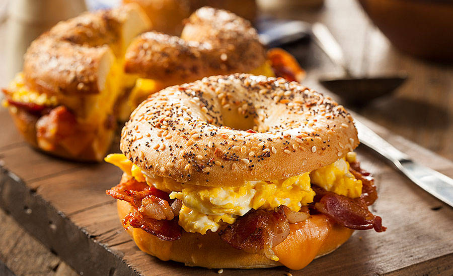 Bacon and Egg Breakfast Bagel