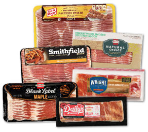 Packages of Different Bacon Brands