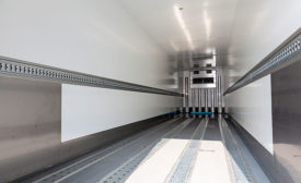 Inside of Refrigerated Truck Trailer