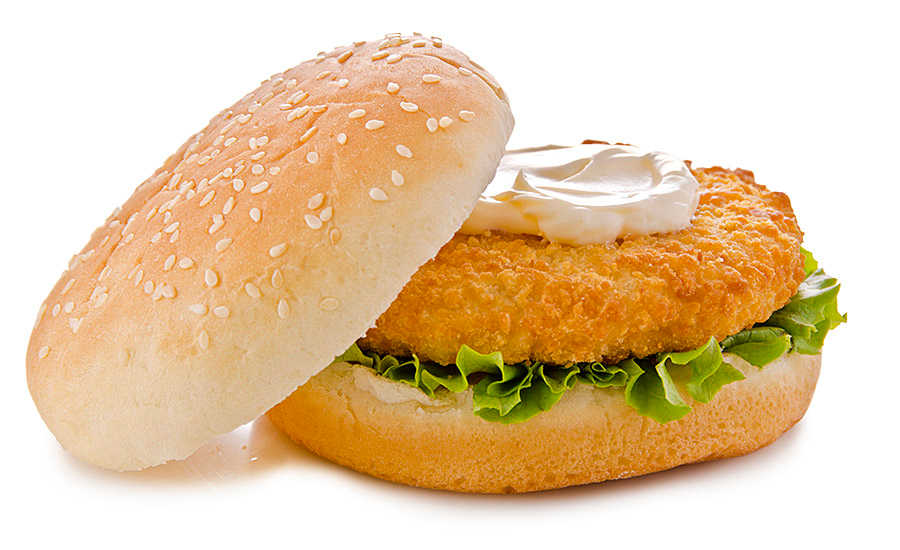 Breaded Chicken Patty Sandwich