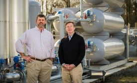 Kraig Westerbeek and Stewart Leeth of Smithfield Foods