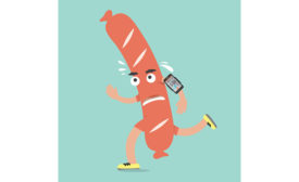 Cartoon Sausage Running