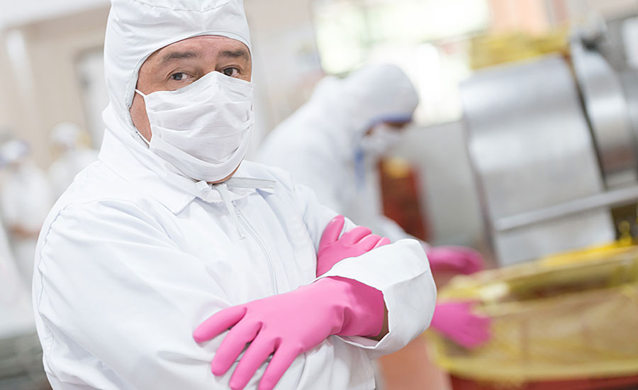 Employee Wearing Food Safety Apparel