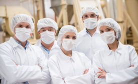 Workers in Food Safety Apparel