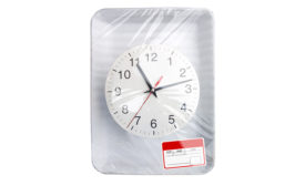 A Clock Under Barrier Film Packaging