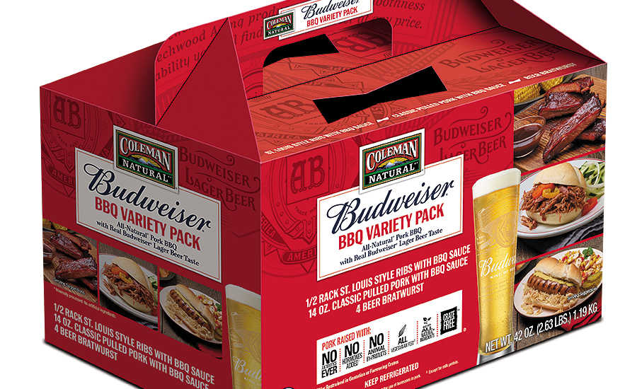 Coleman Natural and Budweiser BBQ Variety Pack