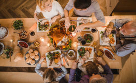 Family Around Table for Holiday Meal