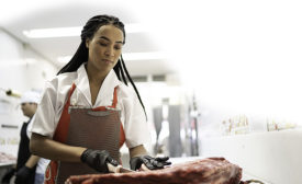 cutting and slicing meat