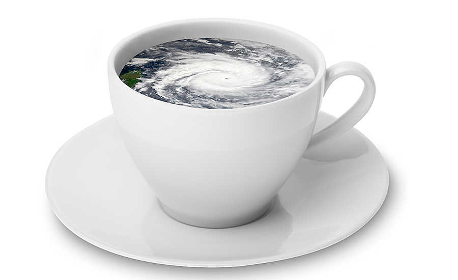 Teacup with Hurricane Storm Inside