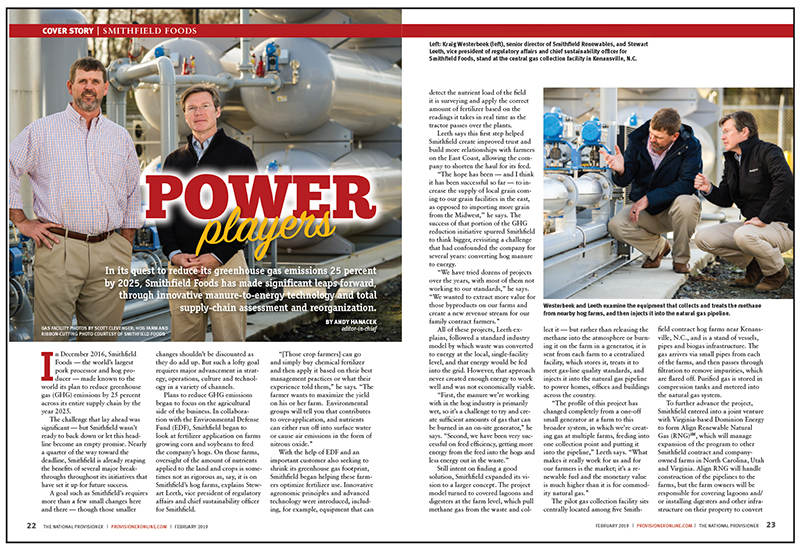 Smithfield Foods Article in The National Provisioner