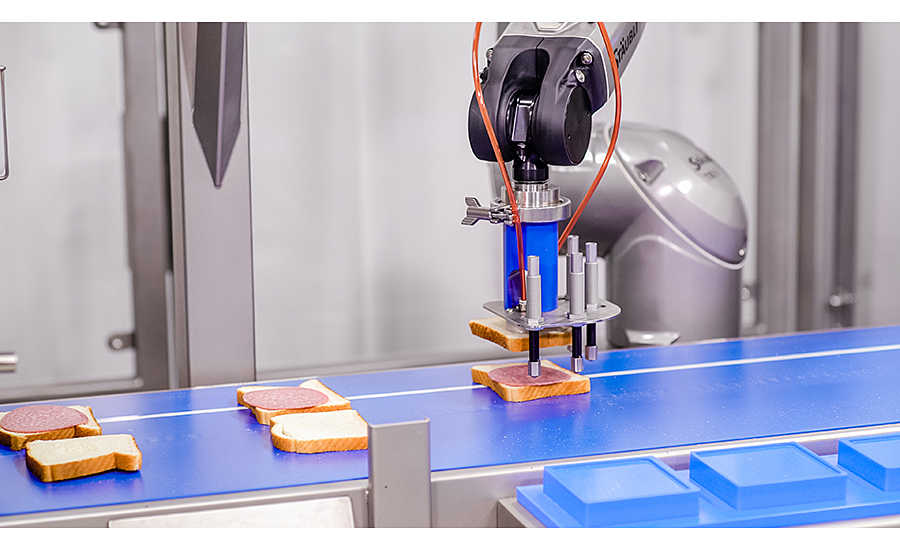 automated sandwich filler