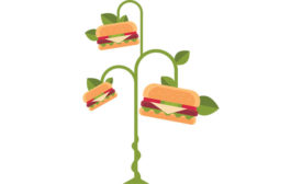hamburger tree cartoon