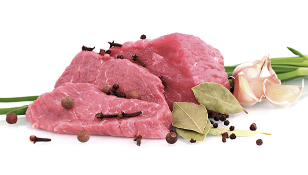 raw meat, spices, ingredients that add flavor