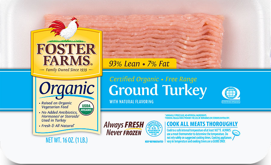 Foster Farms organic ground turkey