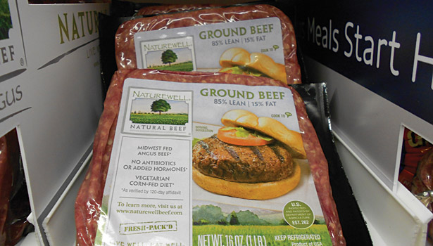 ground beef bricks, packaging