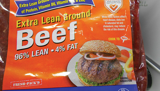 extra lean beef, meat and poultry in retail