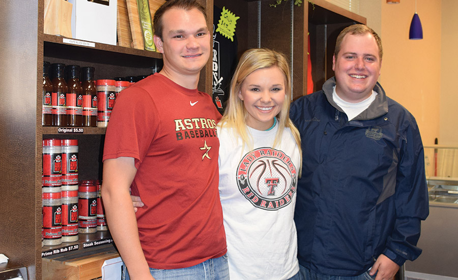 Red Raider Meats student sales team