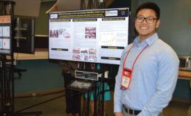 Purdue University meat science student