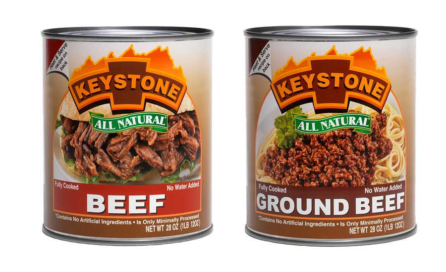 Keystone Meats all natural canned beef and ground beef