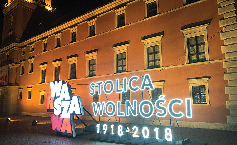 Poland 100th Anniversary Sign
