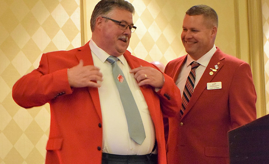 Rick Reams Receives AAMP President's Jacket